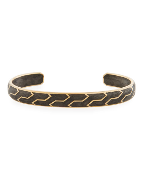 David Yurman Men's 85mm Forged Carbon and 18k