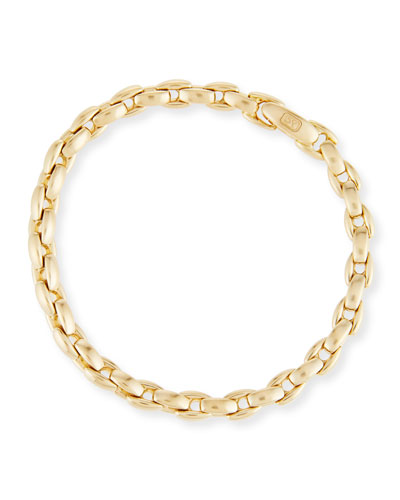 Men's 18k Box-Link Chain Bracelet