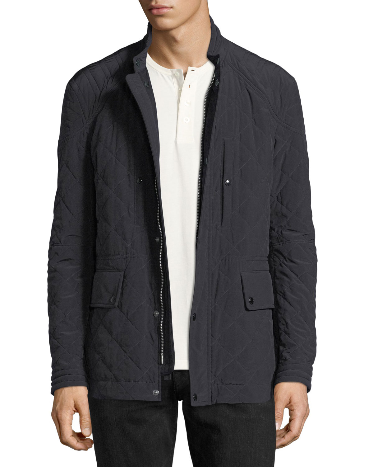 5ff82e43f2 TOM FORD Diamond-Quilted Field Jacket