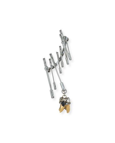 Alexander McQueen Men's Single Safety Pin Earring w/
