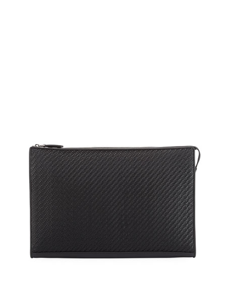 Ermenegildo Zegna Pelle Tessuta Leather Portfolio