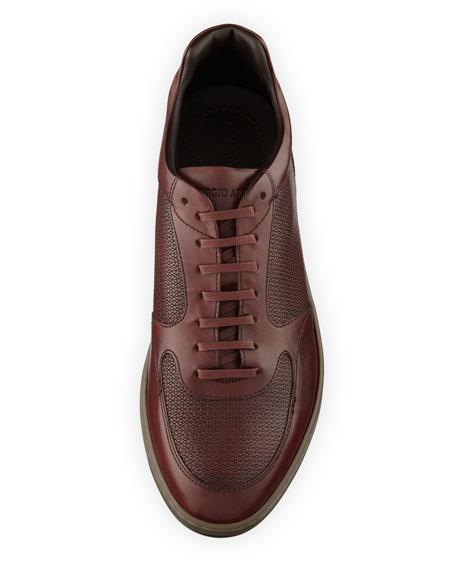 Men's Napier Textured Leather Trainer Sneakers