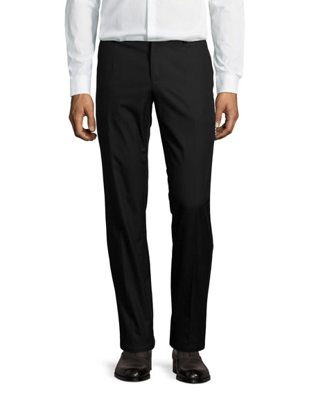Dolce & Gabbana Flat-Front Cotton Pants