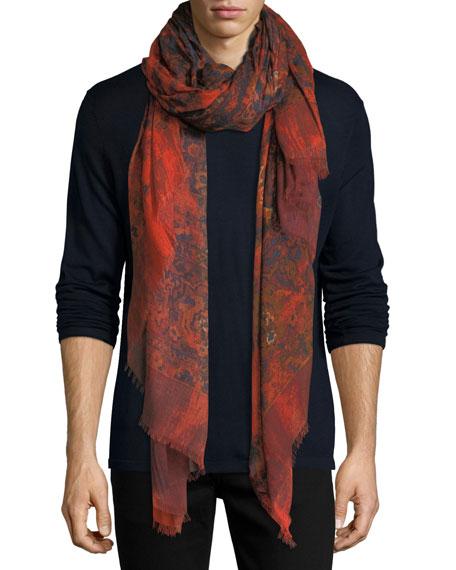 Alexander McQueen Worn Away Blanket Scarf