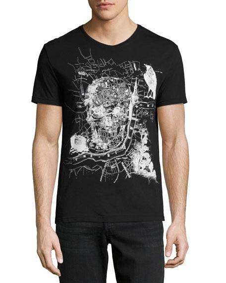 Classic Skull Map T-Shirt