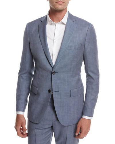 Rodolf N HL Cross-Stitch Suiting Jacket, Blue