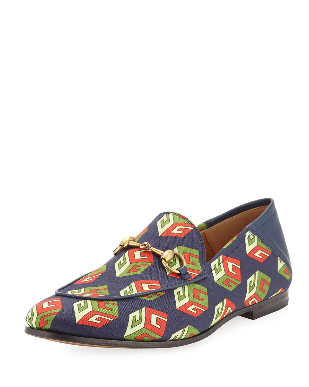 972b5035eaf Gucci Brixton GG Wallpaper Print Loafer