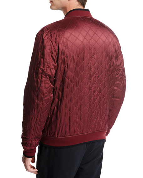 Reversible Bomber Jacket, Black/Red