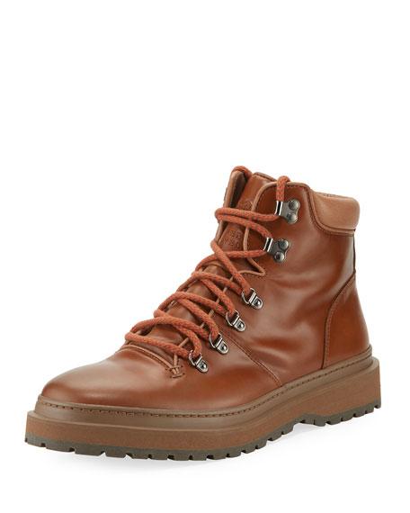 Brunello Cucinelli Calf Leather Hiking Boot