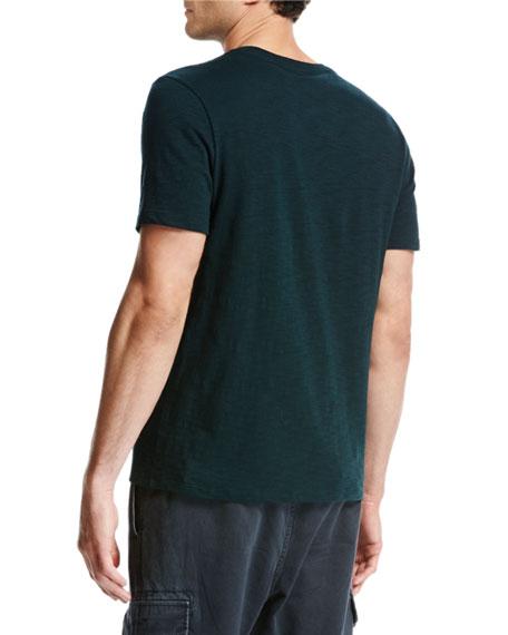 Slub Cotton Crewneck T-Shirt, Forest
