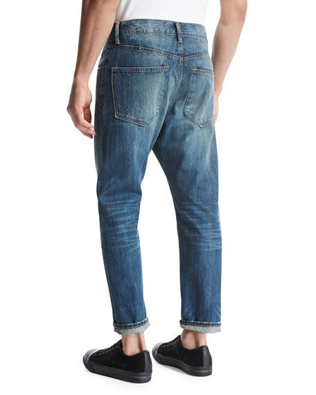 Relaxed Straight-Leg Jeans, Blue