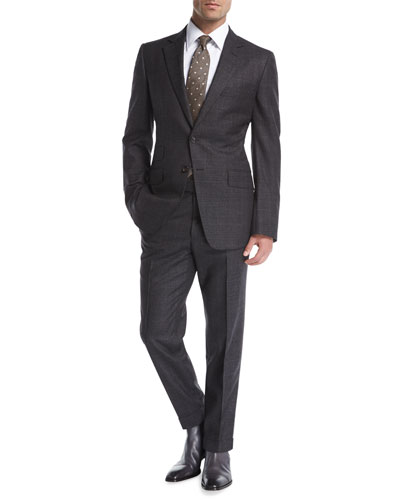 O'Connor Base Tonal Plaid Wool Two-Piece Suit