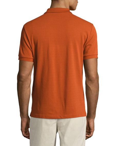 Short-Sleeve Oxford Polo Shirt, Dark Orange