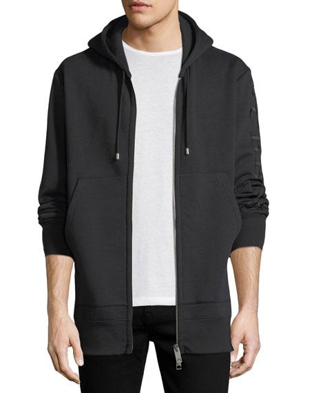 Burberry Lestford Oversized Zip-Front Hoodie