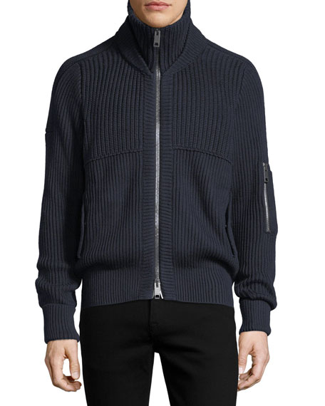 Cannock Cotton-Cashmere Zip Jacket
