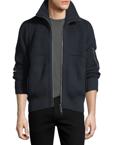 Burberry Cannock Cotton-Cashmere Zip Jacket