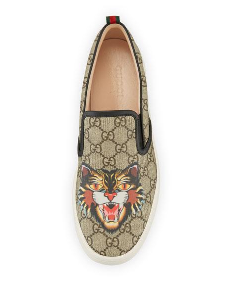 Dublin GG Supreme Angry Cat Slip-On Sneaker, Multicolor