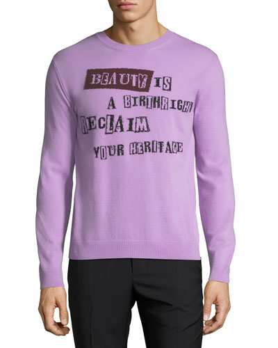Beauty is a Birthright Intarsia Sweater