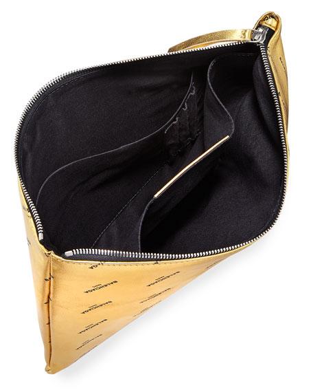Logo-Print Pouch Bag