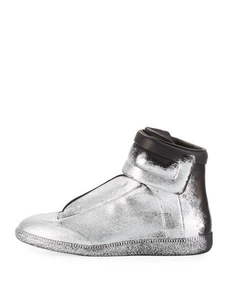 Future Glitter Leather High-Top Sneaker