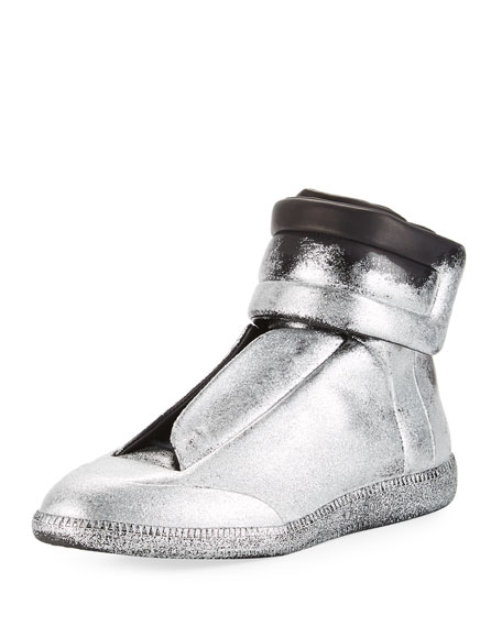Maison Margiela Future Glitter Leather High-Top Sneaker