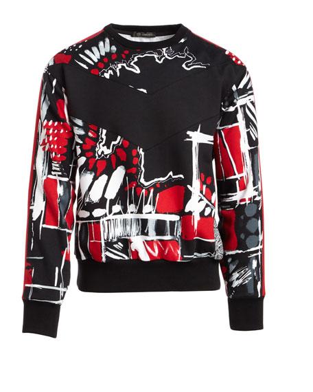 Graphic-Print Cotton Sweatshirt