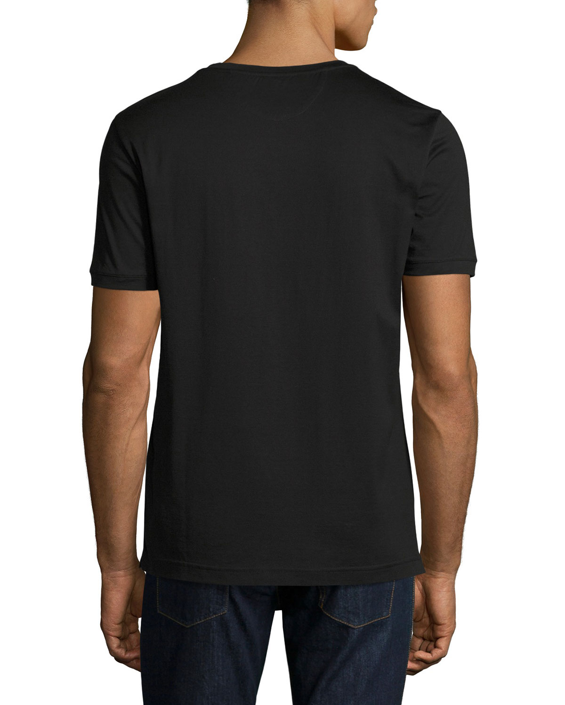 03f33562 Fendi Karlito Studded Short-Sleeve T-Shirt, Black | Neiman Marcus