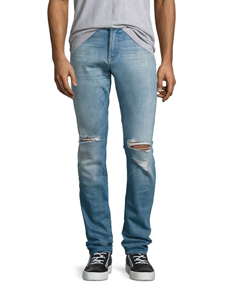 7 For All Mankind Paxtyn Distressed Skinny Jeans,