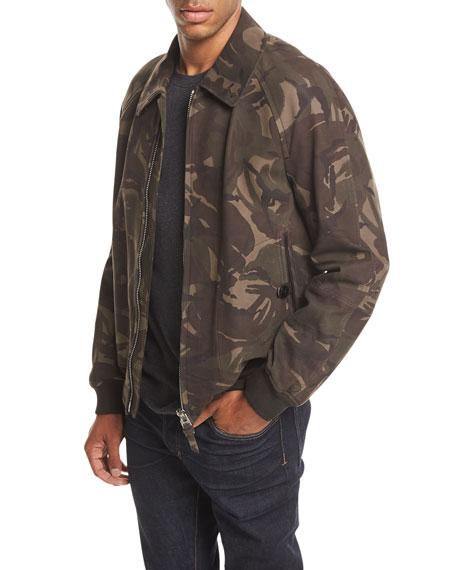 Camo-Print Nubuck Jacket