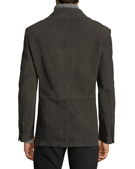 Cashmere Nubuck Patch Pocket Blazer