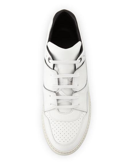 Men's Calf Leather Mid-Top Sneakers