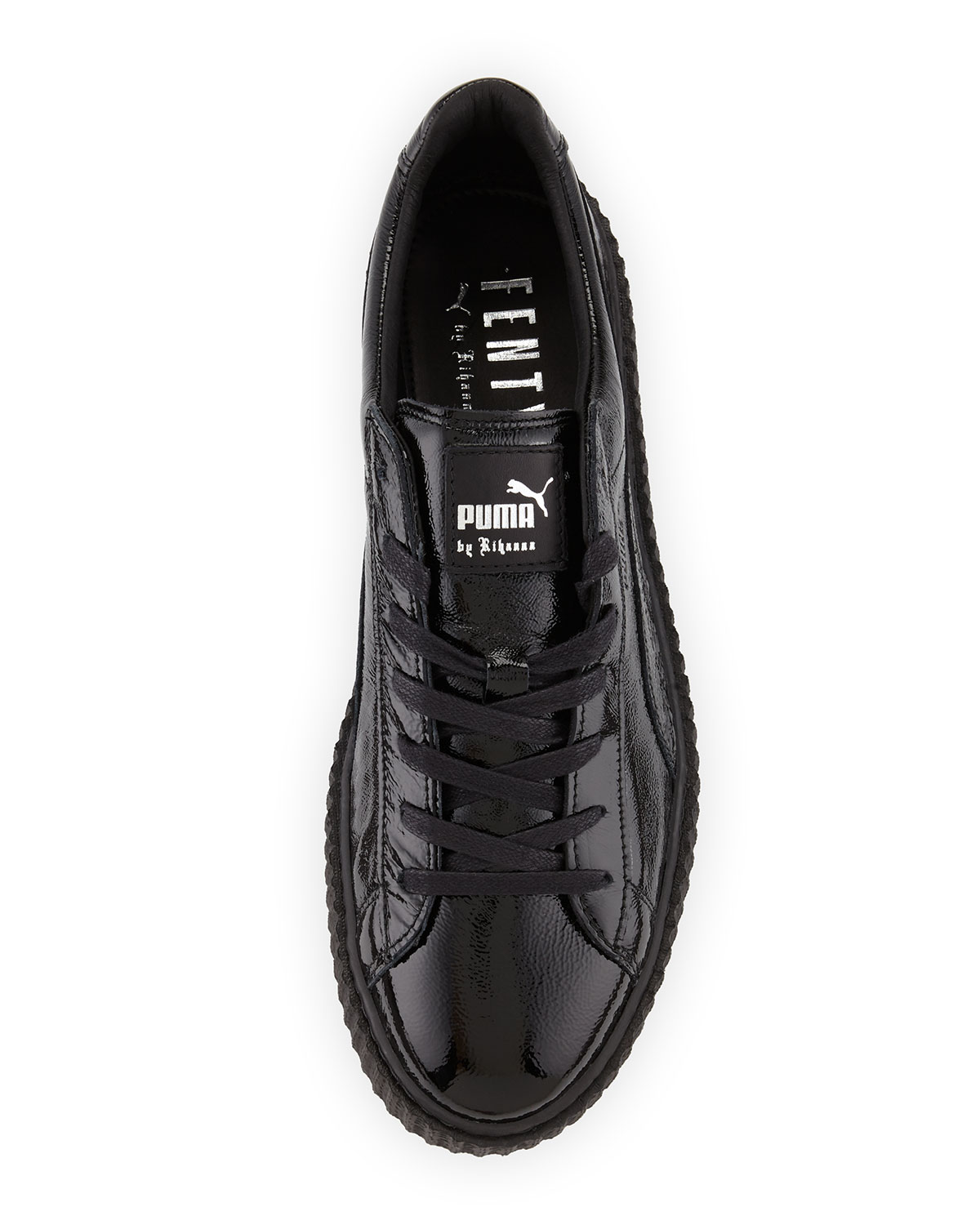 size 40 e0f83 8b87d x Fenty Puma by Rihanna Men's Cracked Leather Creeper Sneaker, Black