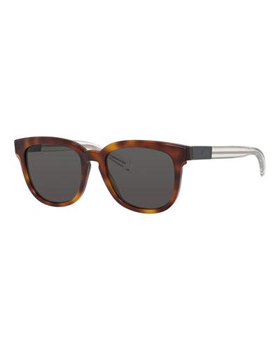 Black Tie Square Acetate Sunglasses