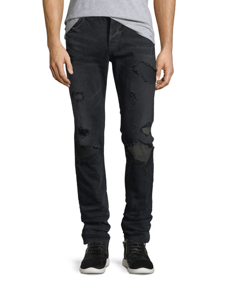 Sartor Skinny Jeans w/ Camo Backing