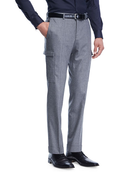 BOSS Tailored Wool-Cashmere Cargo Pants