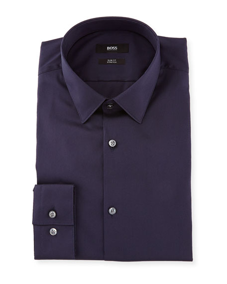 Slim-Fit Stretch Dress Shirt