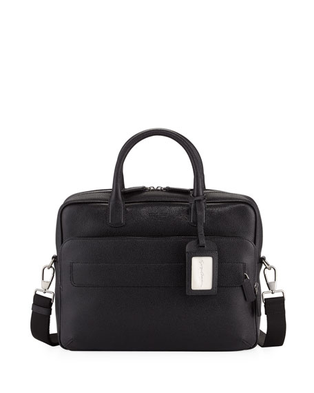 Giorgio Armani Caviar Leather Briefcase