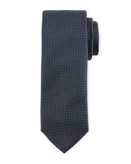 BOSS Textured Silk Tie, Navy