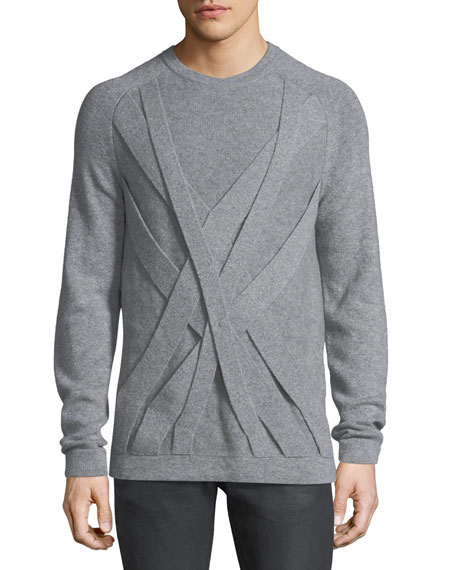 Helmut Lang Cable Cashmere Crewneck Sweater