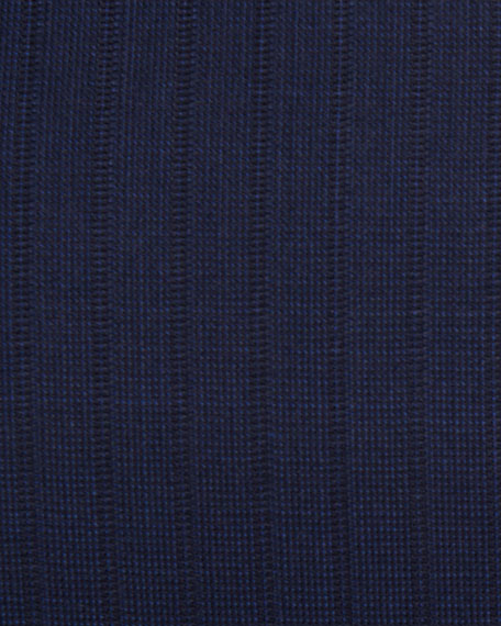 Canali Textured-Stripe Super 140s Impeccabile Wool Two-Piece Suit, Navy Blue