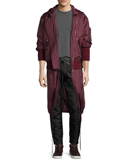 Public School Clemente Hybrid Hooded Bomber Jacket