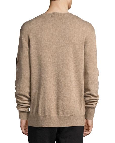 Lennon Merino Wool Crewneck Sweater, Sand