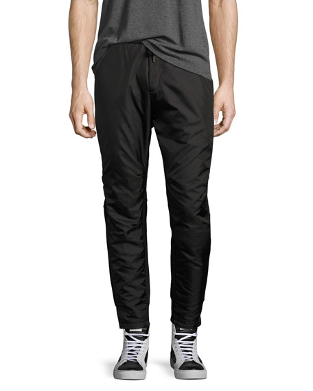 Villa Mixed-Media Jogger Pants