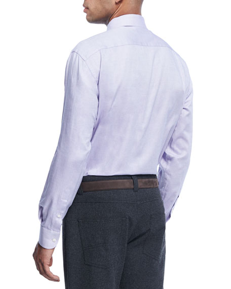 Micro-Dot Cotton Dress Shirt