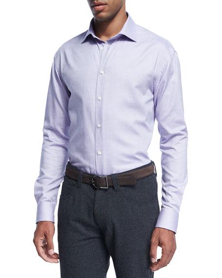 Armani Collezioni Micro-Dot Cotton Dress Shirt