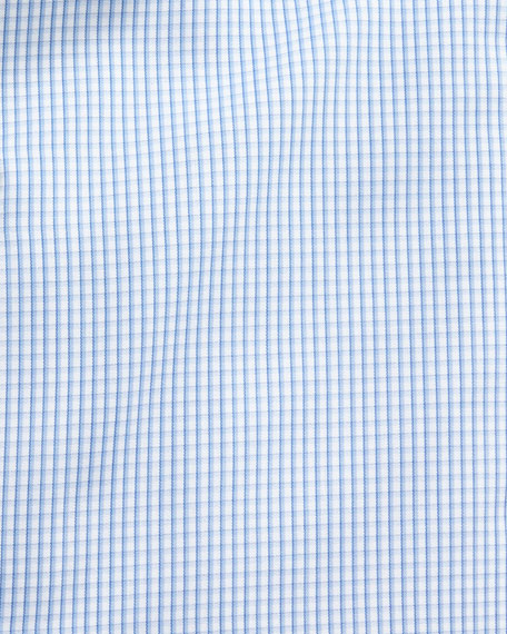 Graph-Check Dress Shirt, Blue