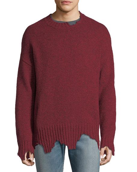 Ovadia & Sons Oversize Distressed Crewneck Sweater