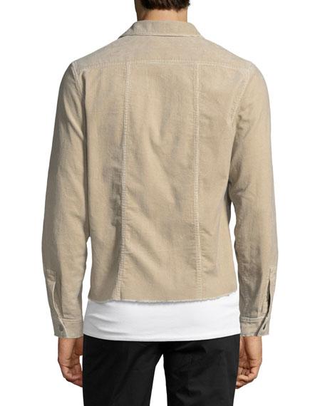 Garment-Washed Corduroy Over Shirt