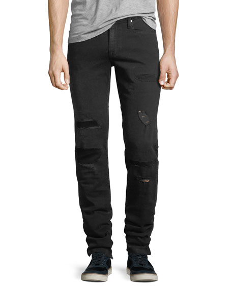 FRAME L'Homme Buxton Distressed Skinny Jeans