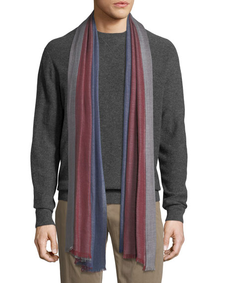 Duo Cavalry Tri-Color Cashmere Scarf